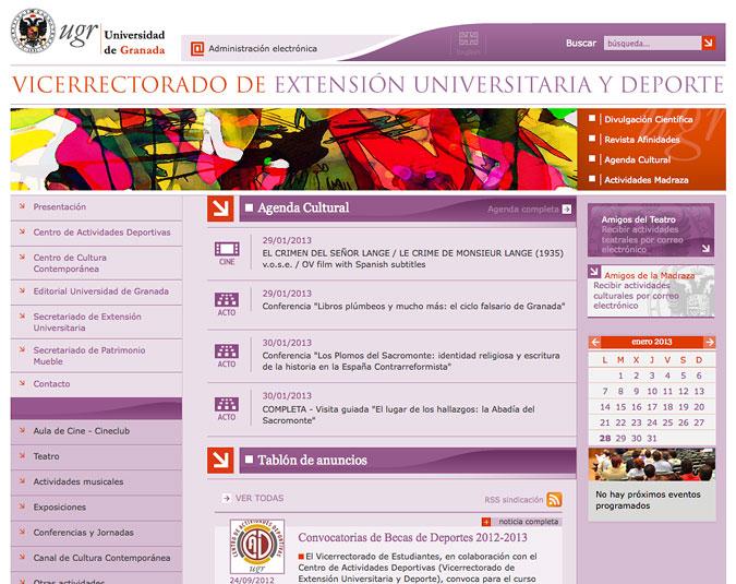Dixi portfolio dise o portal web universidad de granada for Oficina relaciones internacionales ugr